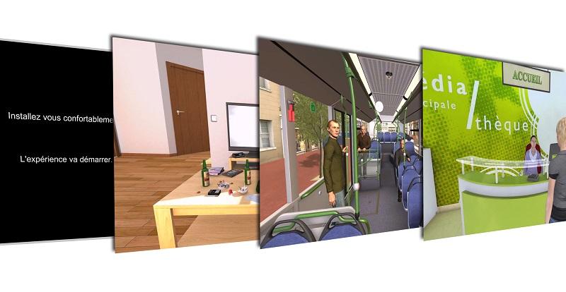 Images de la simulation développée par Janssen