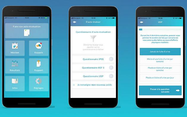 Capture d'écran de l'application MyHBP