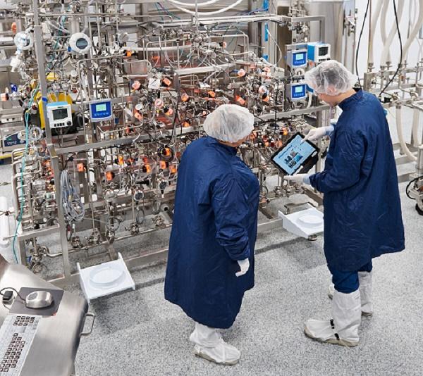 """Photo du site de """"l'usine digitale"""" de Sanofi à Framingham, inaugurée le 15 octobre 2019 (crédit: Sanofi)"""